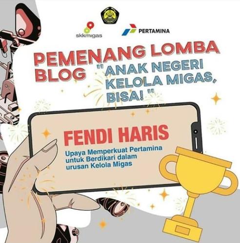 Juara 1 – Lomba Blog – SKKMIGAS Pertamina – September 2019