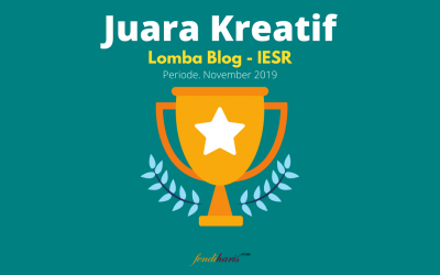 Juara Creative Blog Category – Lomba Blog IESR – November 2019