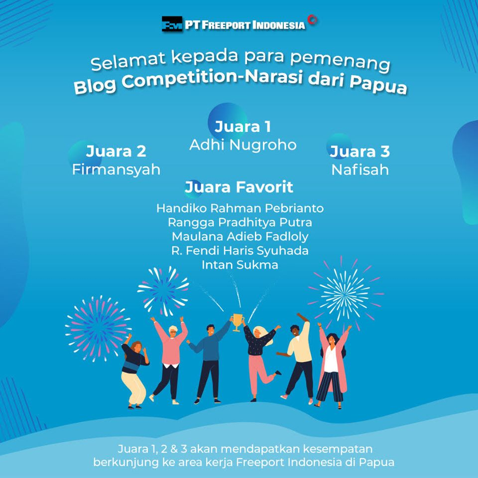 Juara Favorit Lomba Blog Freeport Indonesia