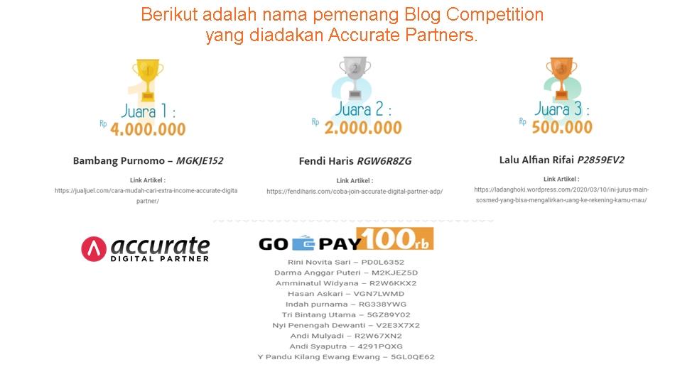 Juara 2 – Lomba Blog Accurate Digital Partner – April 2020