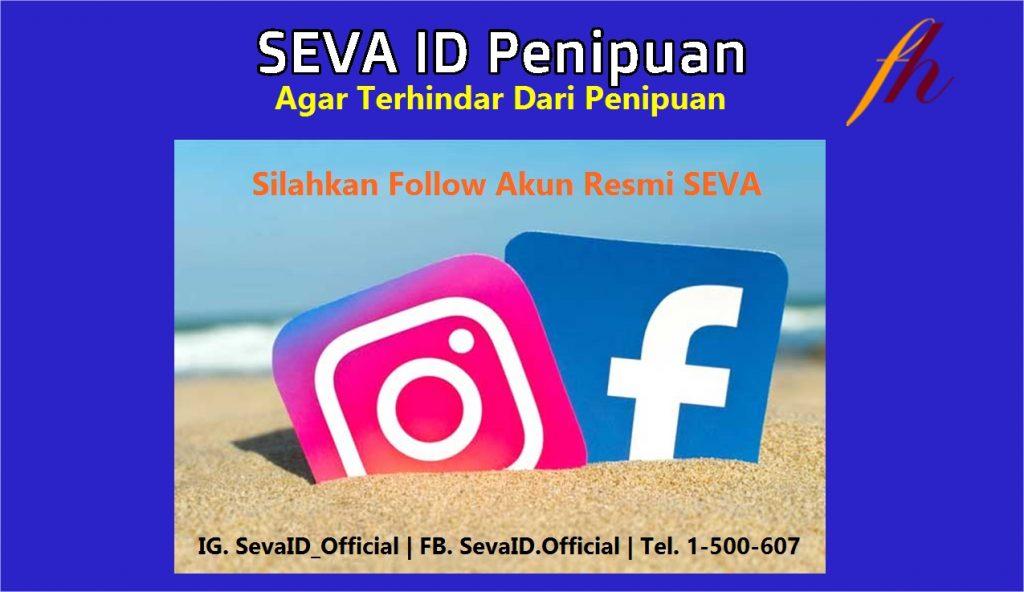 SEVA ID Penipuan