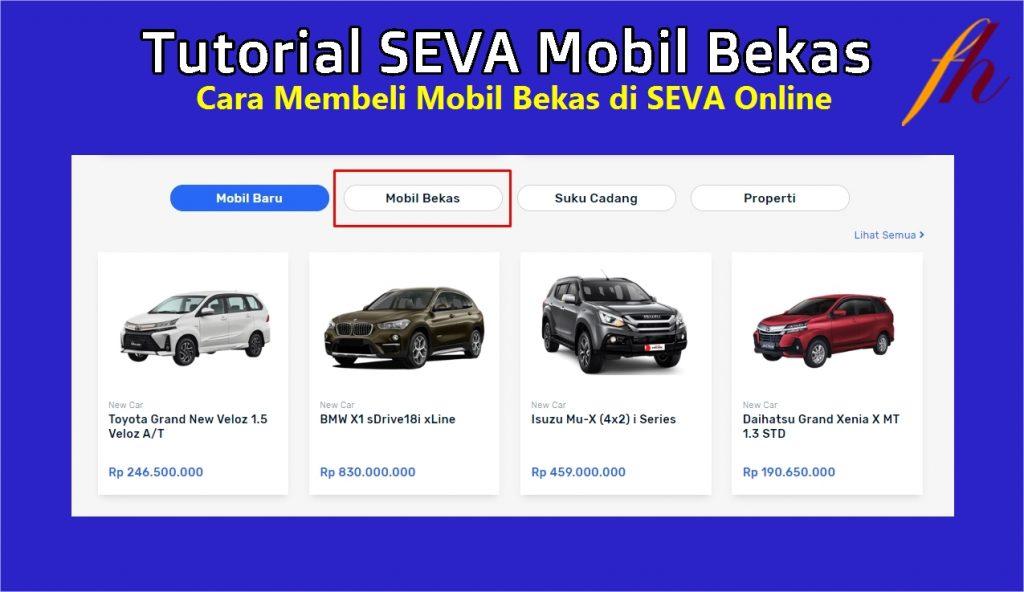 Tutorial SEVA Mobil Bekas