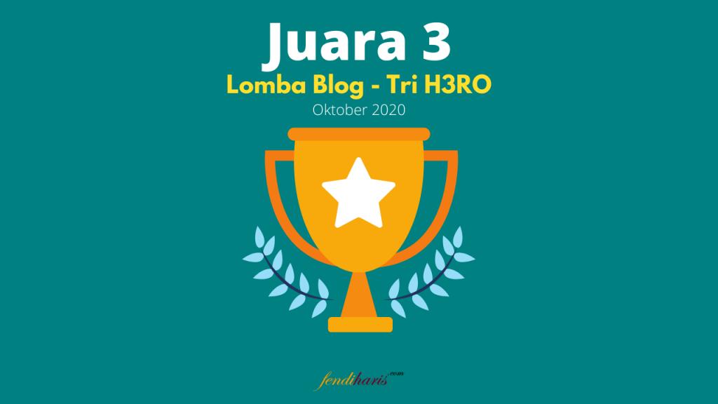 juara 3 lomba blog tri 2020