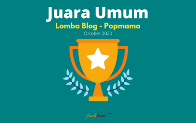 Juara Umum – Lomba Blog Popmama – Oktober 2020