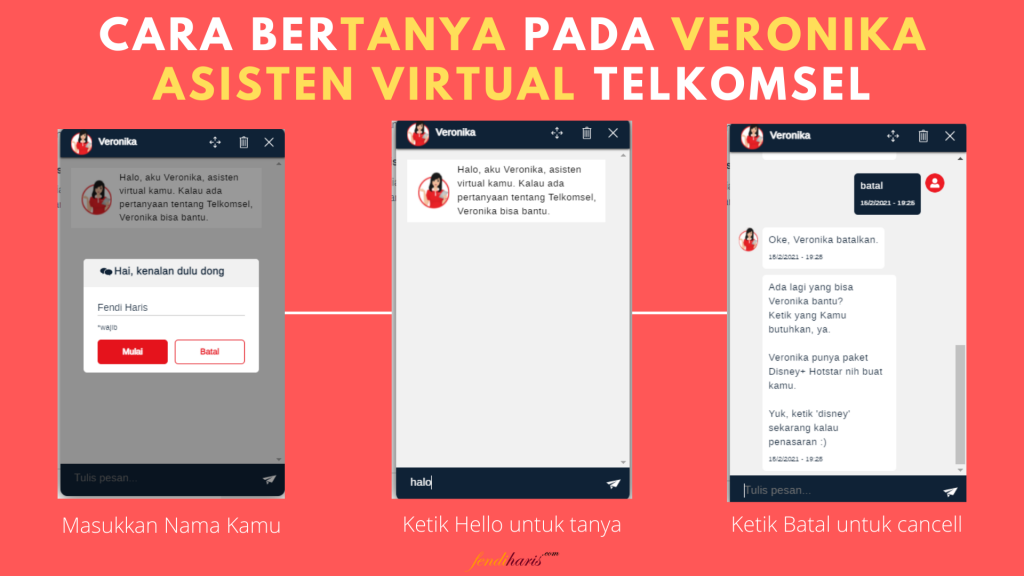 Cara Bertanya Veronika Asisten Virtual Telkomsel