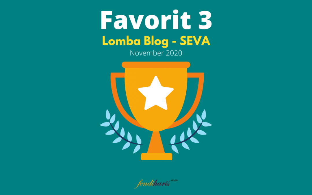Juara Favorit 3 – Lomba Blog SEVA – November 2020