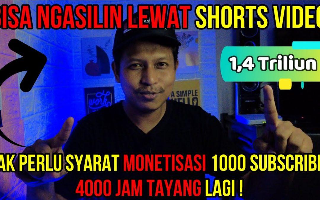 1,4 Triliun Dari Youtube Shorts. Monetisasi Tanpa Syarat 1000 Subscriber 4000 Jam Tayang